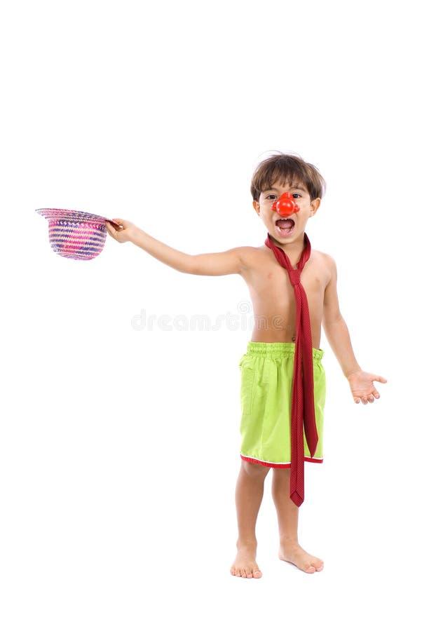 Clown-Kind stockbilder