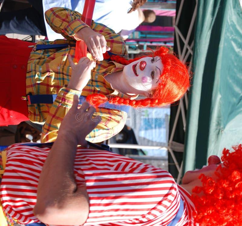 Clown-Lächeln lizenzfreie stockbilder