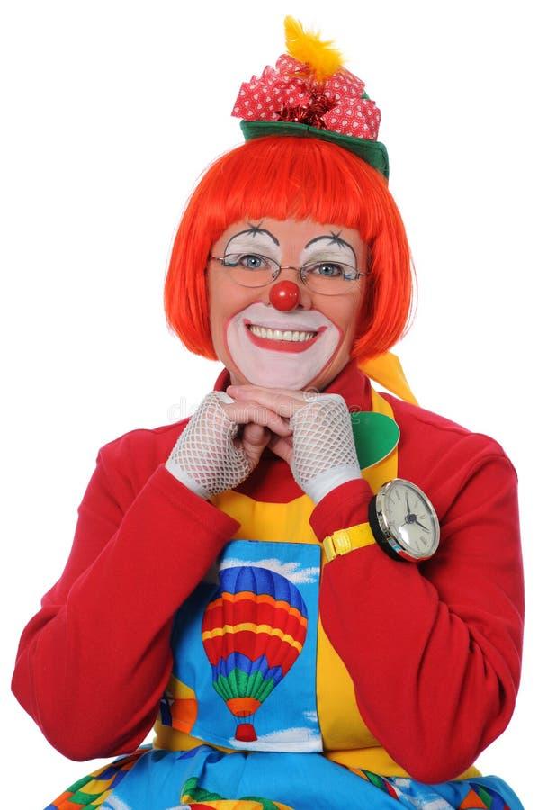 Clown-Lächeln stockfoto