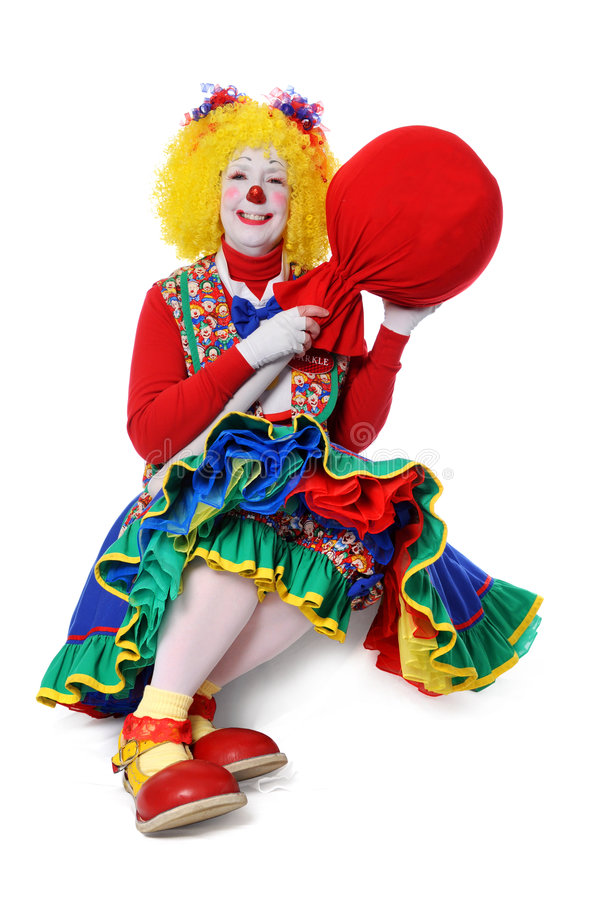 Download Clown With Large Popsicle stock photo. Image of smile - 5547068