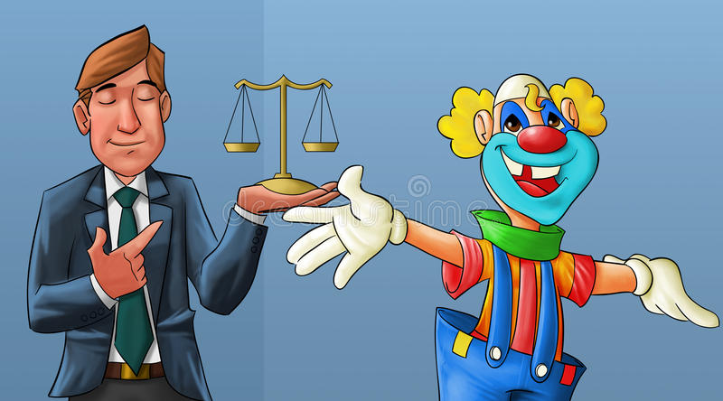 Download Clown and lawyer stock illustration. Illustration of illustration - 19726812