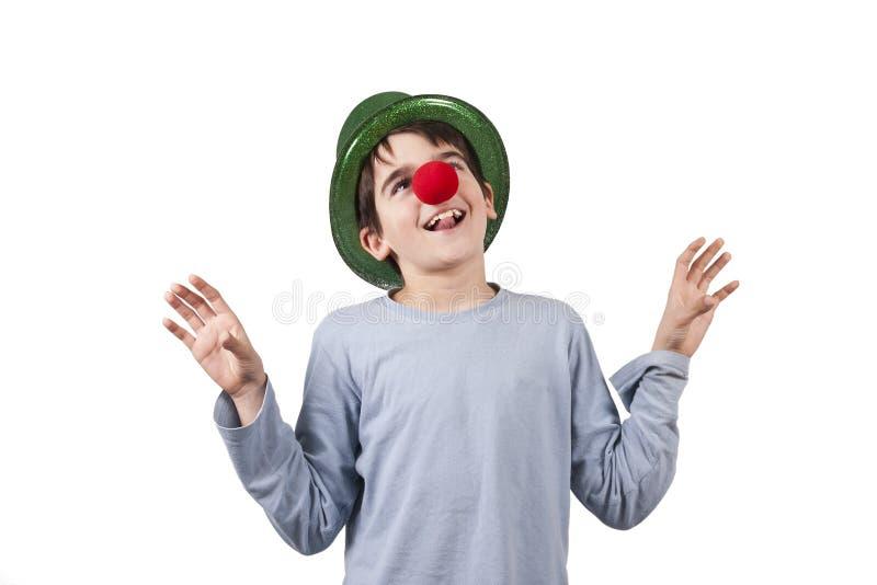Clown lokalisiert lizenzfreies stockfoto