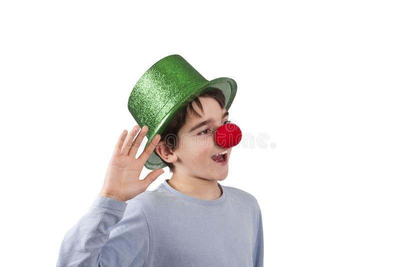 Clown lokalisiert lizenzfreie stockfotografie