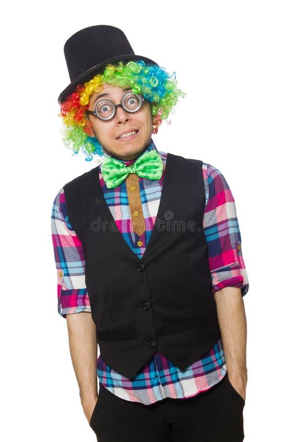 Clown lokalisiert stockbilder