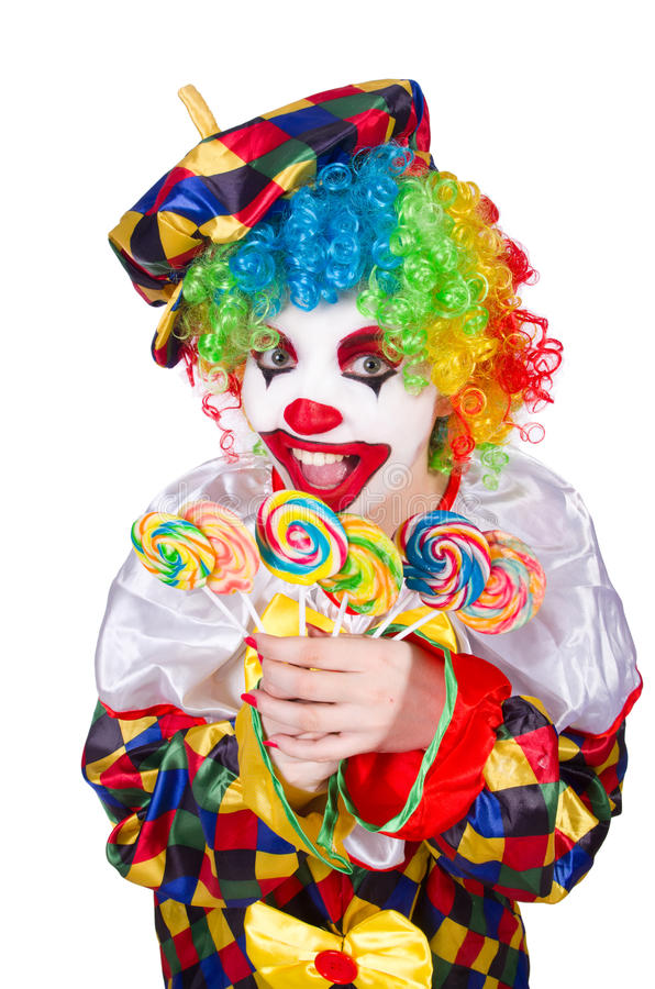 Download Clown With Lollipops Royalty Free Stock Images - Image: 34469019