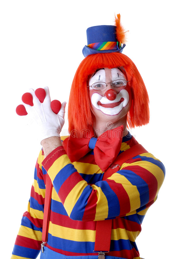 Clown-magischer Trick lizenzfreies stockbild