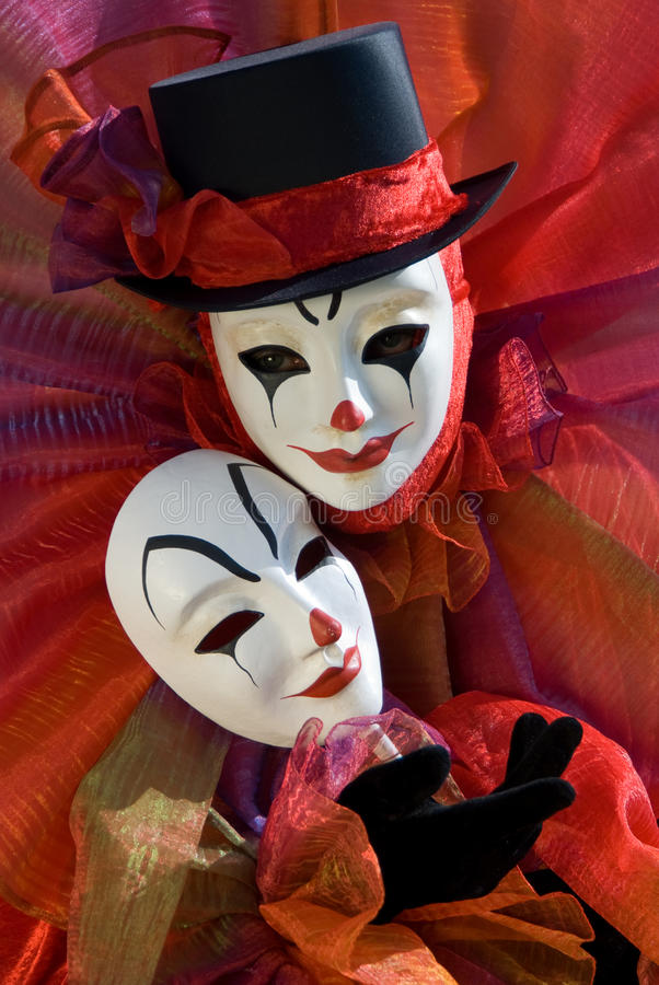 Clown with mask