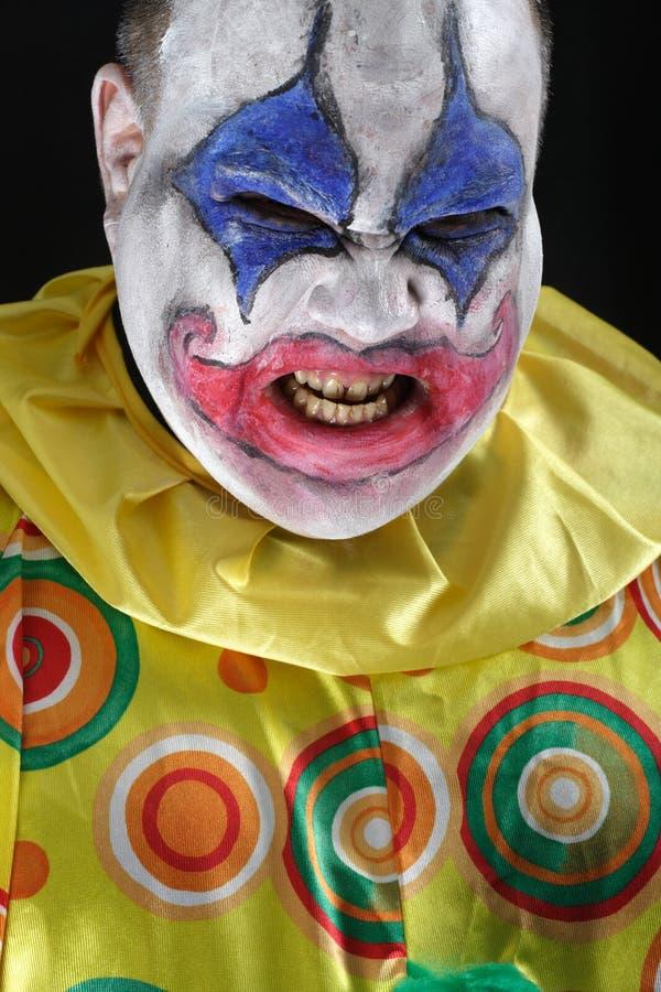 Clown mauvais photographie stock libre de droits