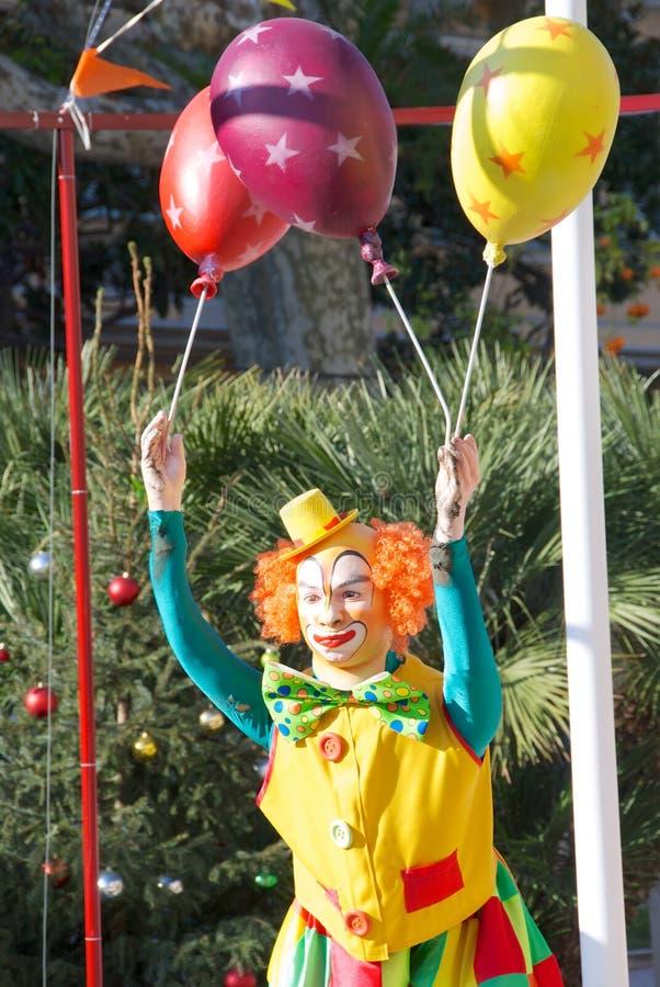 Clown met ballen royalty-vrije stock afbeeldingen