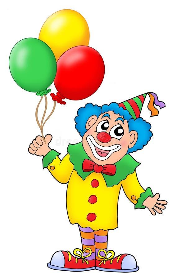 Clown met ballons vector illustratie