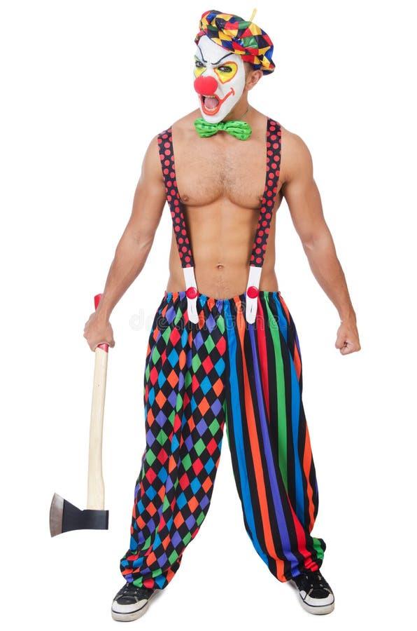 Clown met bijl royalty-vrije stock foto's