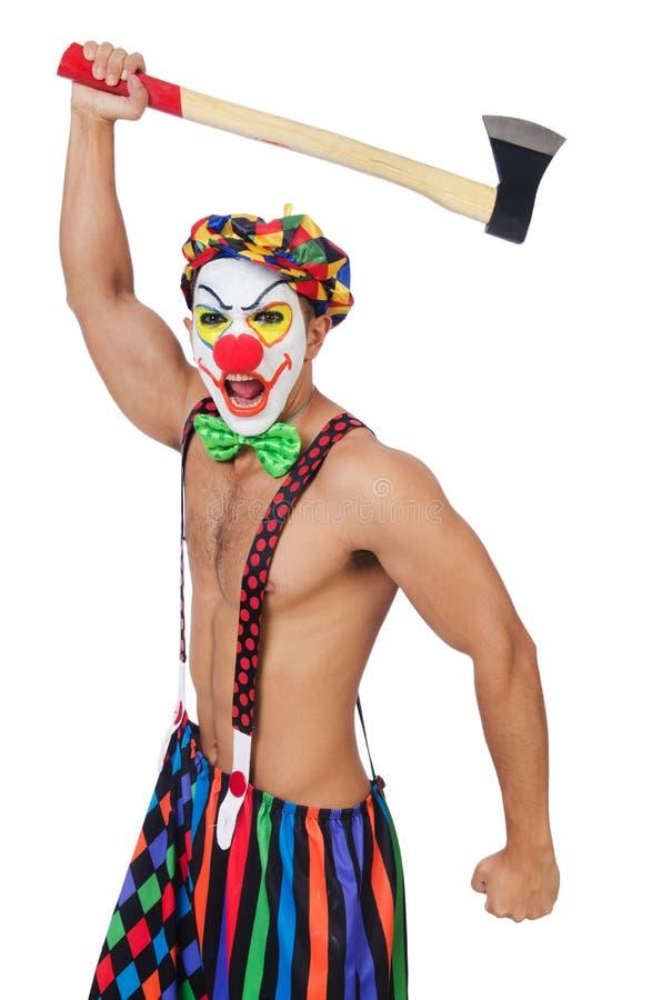 Clown met bijl royalty-vrije stock afbeelding