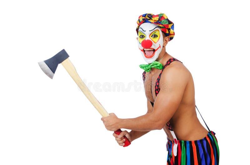 Clown met bijl stock foto's