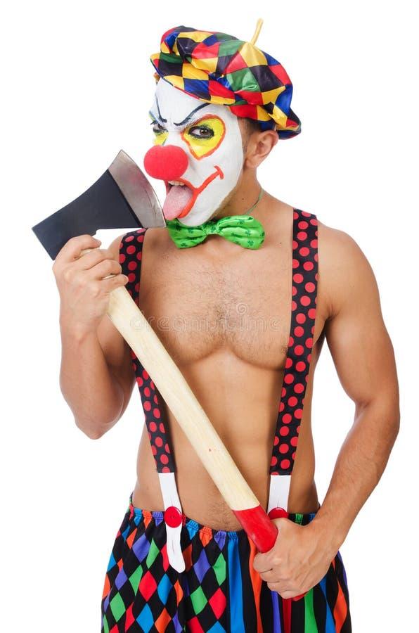 Clown met bijl royalty-vrije stock fotografie