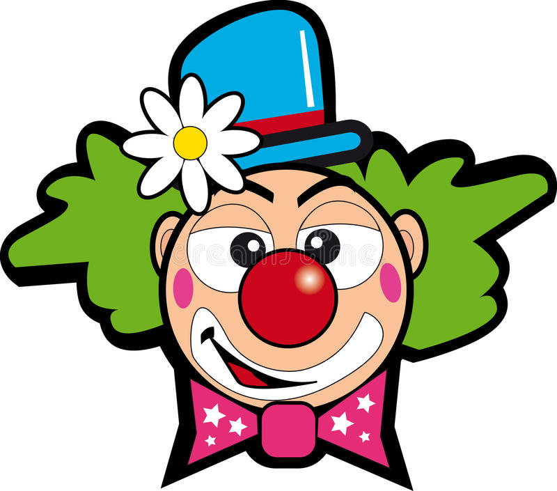 Clown met bloem stock illustratie