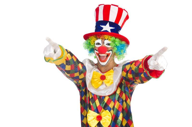 Clown met hoed stock afbeelding