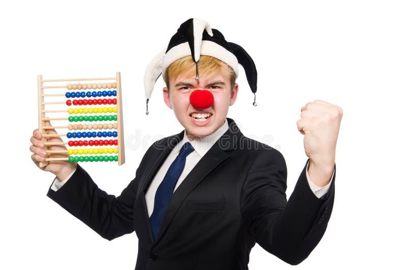 Clown met telraam stock foto's