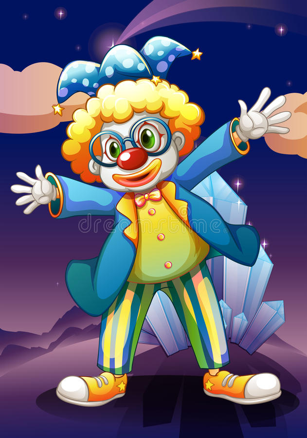 Download A Clown In The Middle Of The Night Stock Vector - Illustration: 32710963