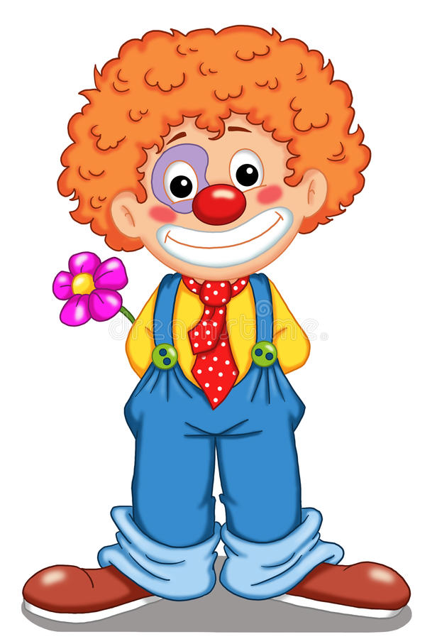 Clown mignon illustration libre de droits