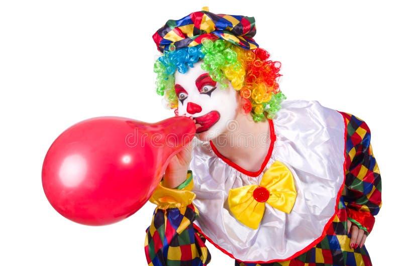 Clown mit Ballonen stockbild