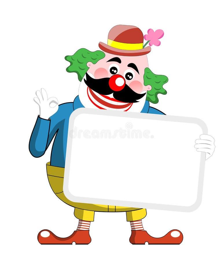 Clown mit Fahne vektor abbildung