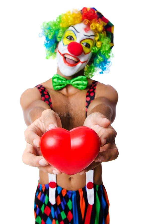 Clown mit Herzen lizenzfreie stockfotografie
