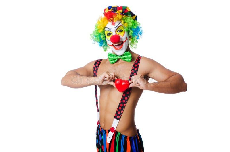 Clown mit Herzen lizenzfreie stockbilder