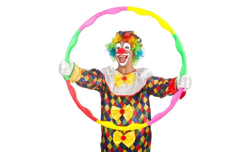 Clown mit hula Band stockfotografie