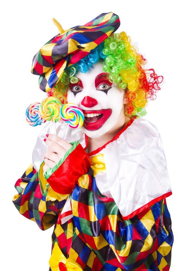 Clown mit Lutschern stockfotos