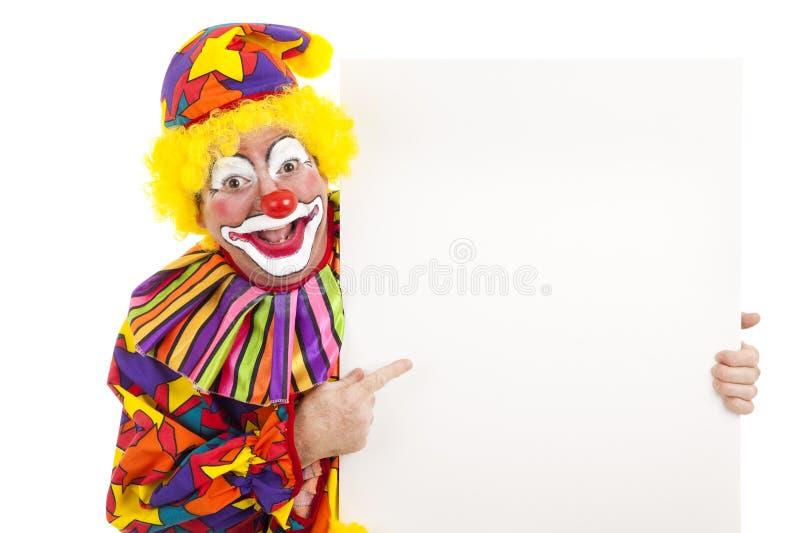 Clown mit weißem Platz lizenzfreies stockfoto