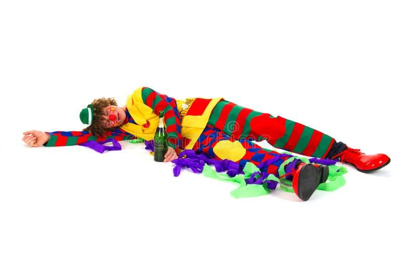 Clown nach der Party stockbilder