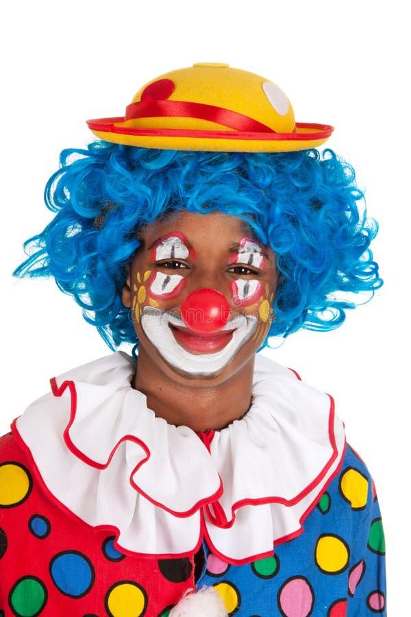 Clown noir drôle photographie stock libre de droits