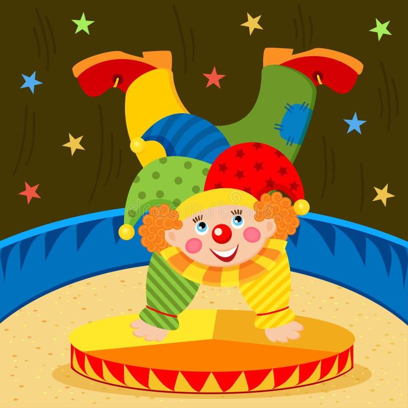 Clown op stadium stock illustratie