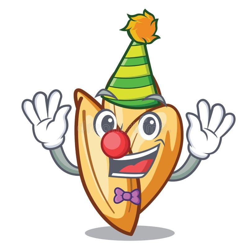 Clown orzo Teigwaren im Charakterkühlschrank stock abbildung