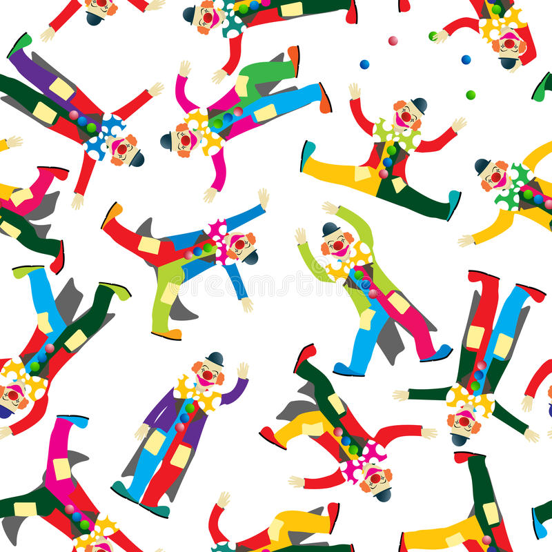 Download Clown pattern stock vector. Image of design, laughing - 31275686