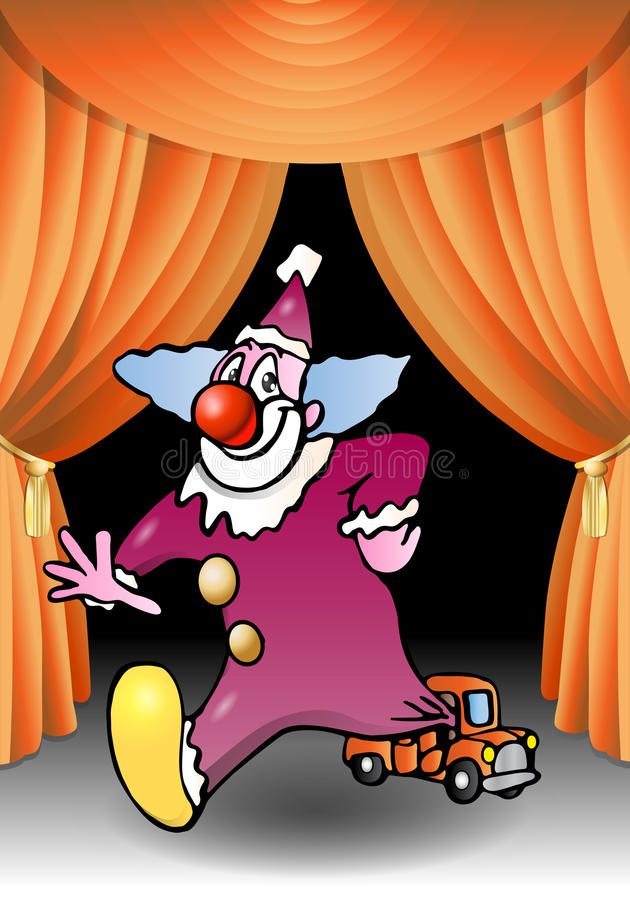 Download Clown performance stock illustration. Image of background - 17298154