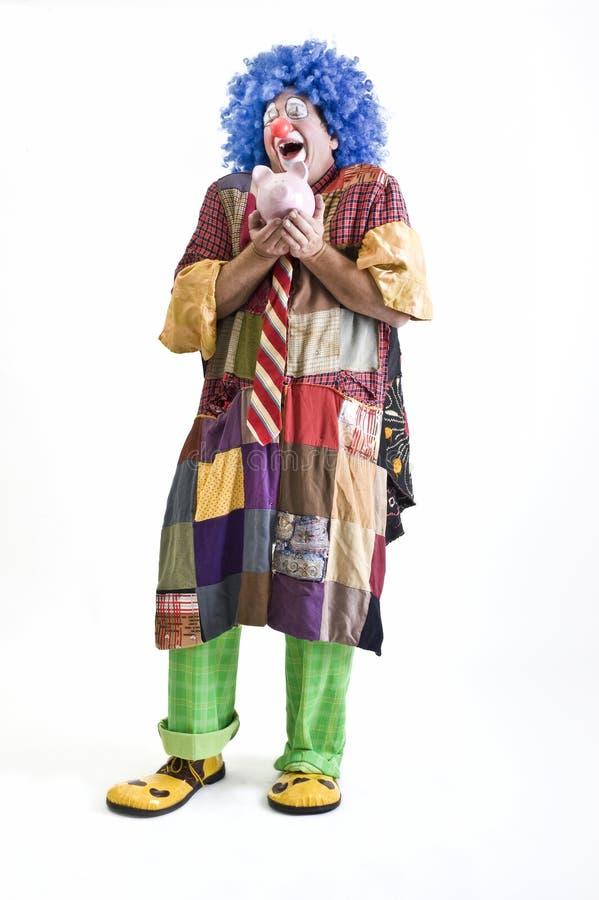 Clown piggybank lizenzfreies stockbild