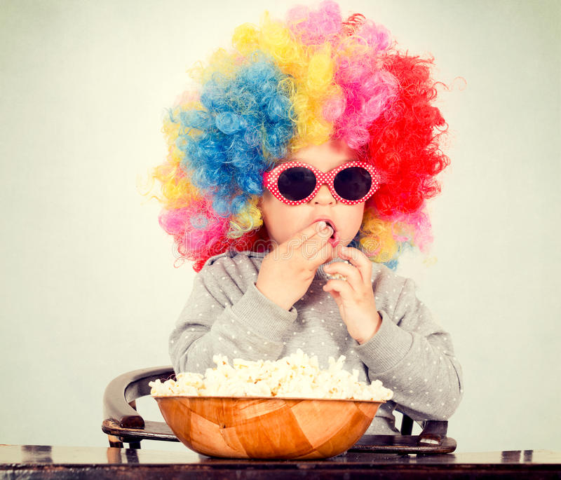 Download Clown with pop corn stock photo. Image of game, child - 39503826
