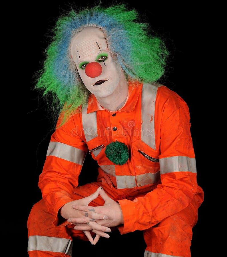 Clown-Portrait stockfoto