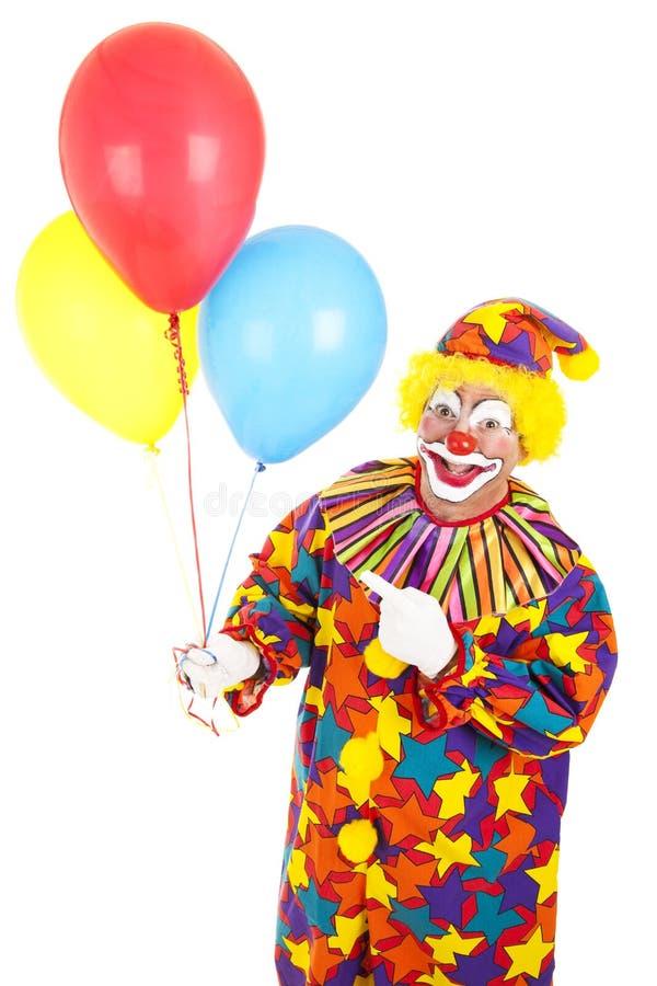 Clown-Punkte an den Ballonen lizenzfreie stockfotografie