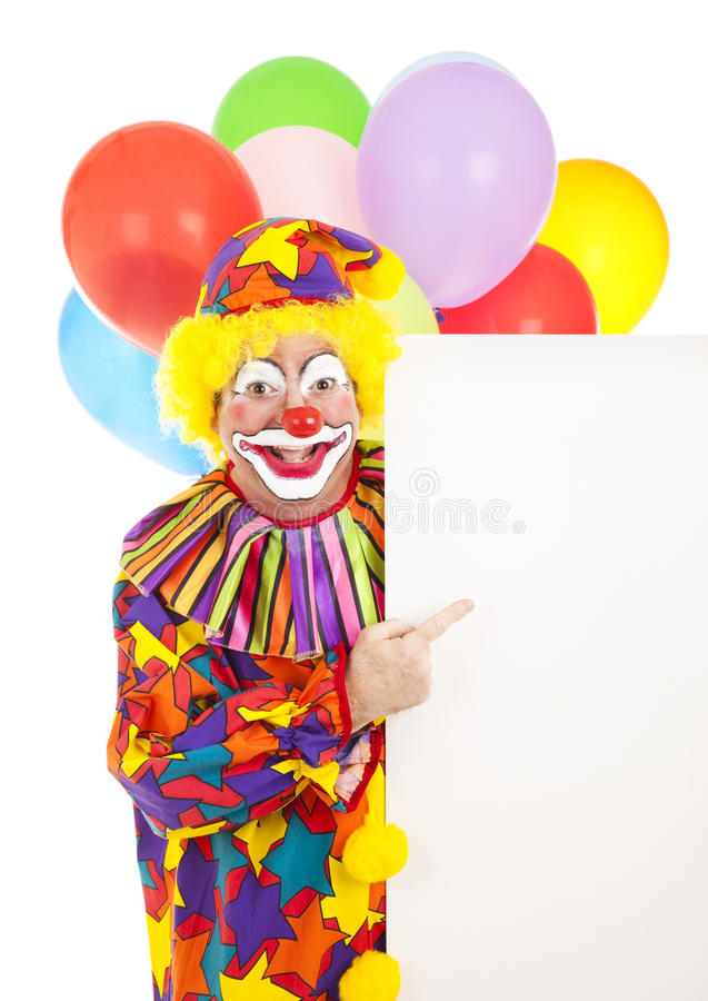 Clown-Punkte zum Zeichen lizenzfreies stockbild