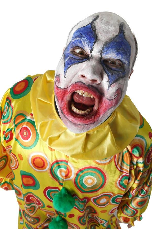 Clown rampant photographie stock