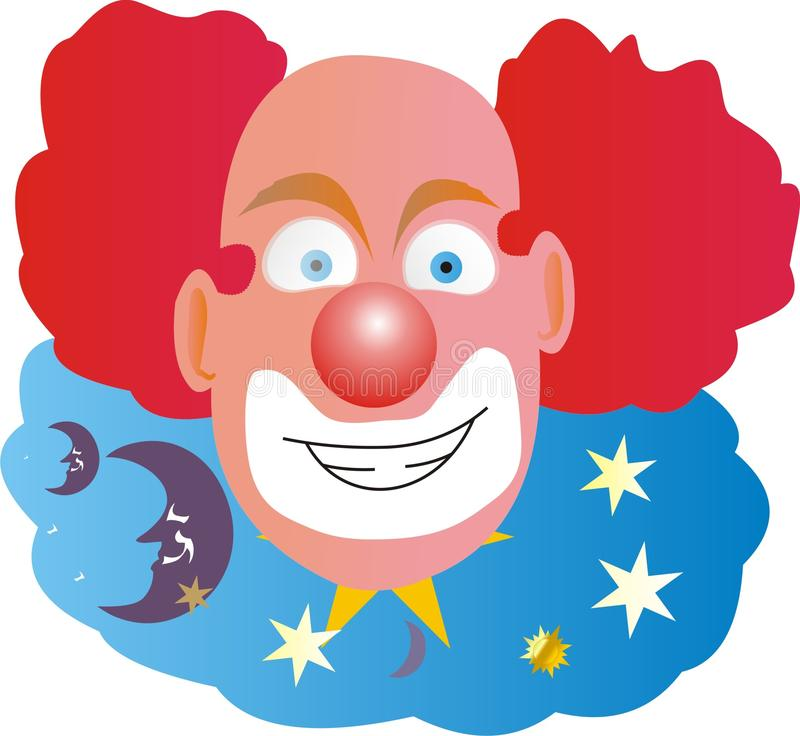 Clown with Red Hair Bald in Middle stock photos