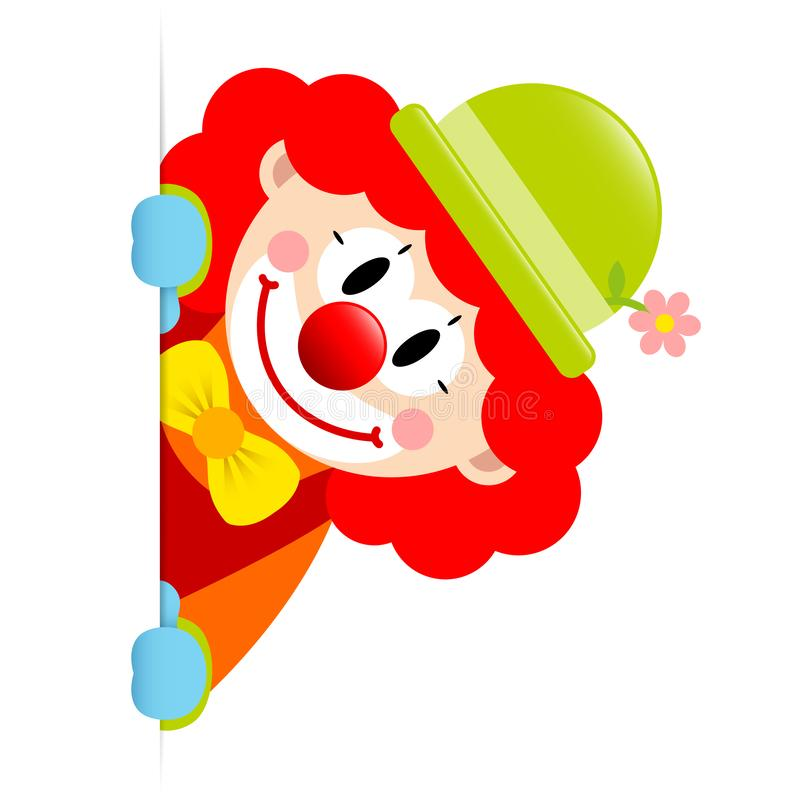 Clown Red Hair Vertical Banner Right royalty free illustration