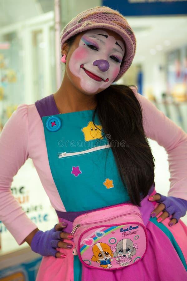 Clown regardant et souriant photo libre de droits
