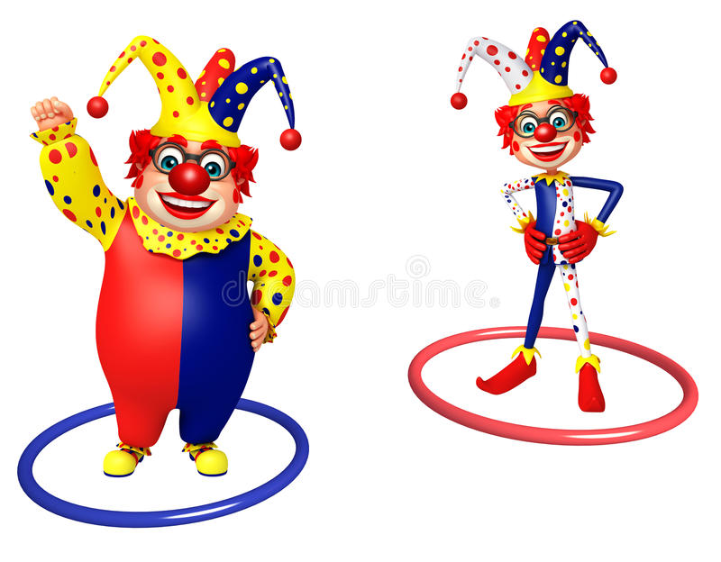 Clown with Rings stock illustration