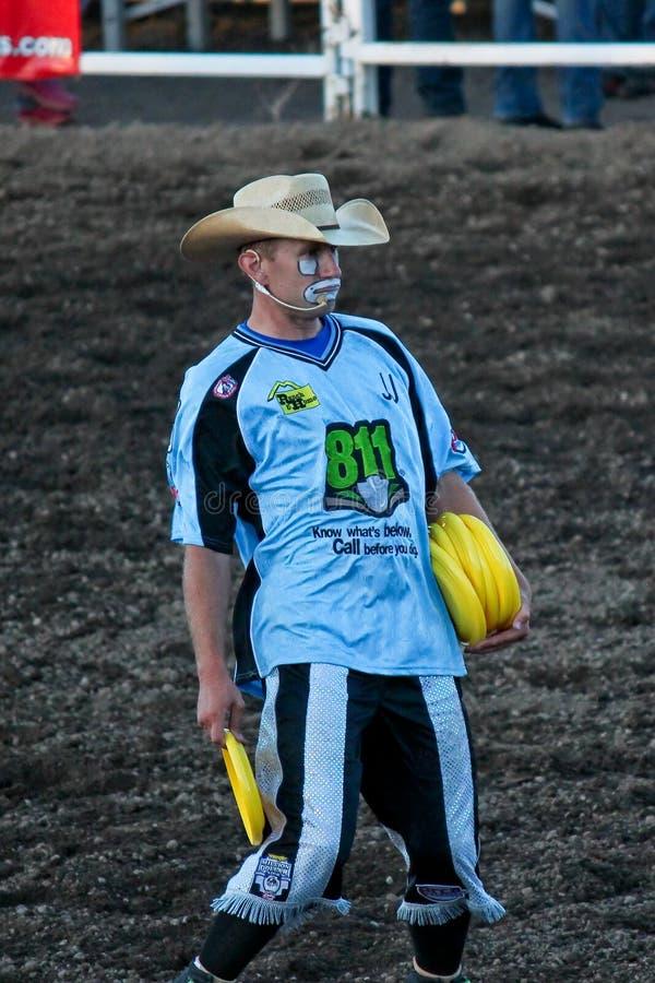 Clown am Rodeo lizenzfreies stockfoto