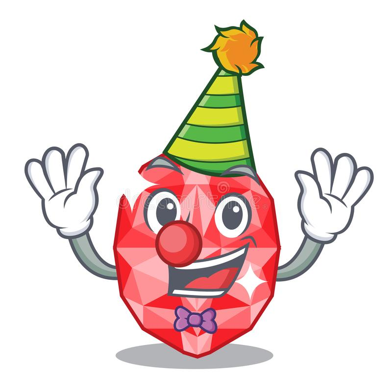 Clown ruby gems in the mascot shape. Vector illustration royalty free illustration