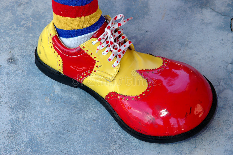 Clown shoe stock images