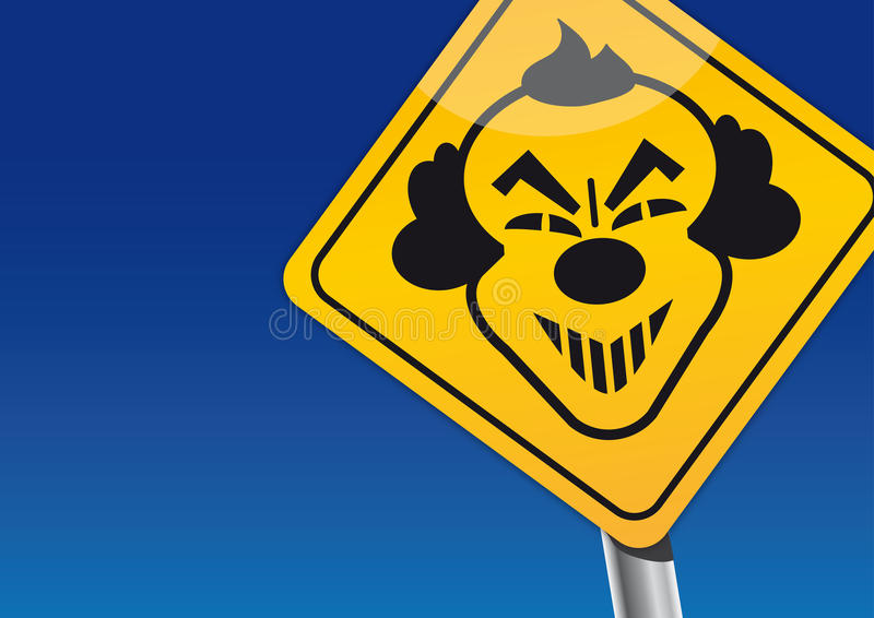 Clown sightings - Scary Clowns royalty free illustration